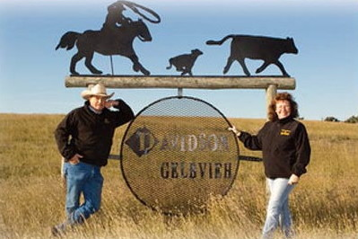 Vern and Eileen on the ranch near Ponteix Saskatchewan.