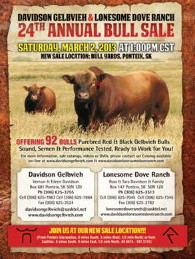Click here to see the Davidson Gelbvieh 2013 Bull Sale catalogue.