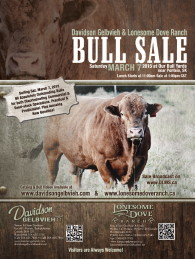 Click here to see the Davidson Gelbvieh 2015 Bull Sale flyer.