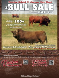 Click here to see the Davidson Gelbvieh 2016 Bull Sale flyer.